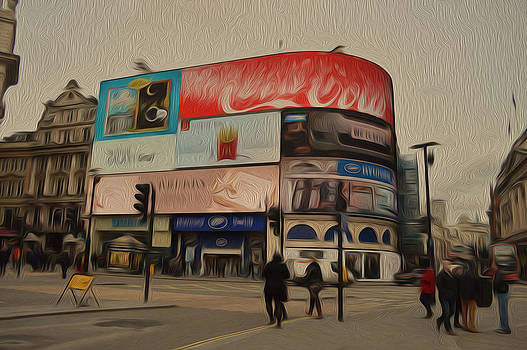 Piccadilly Circus Oil Painting version by Alexander Mandelstam