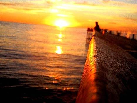 Pier Sunset by Brandon Garcia