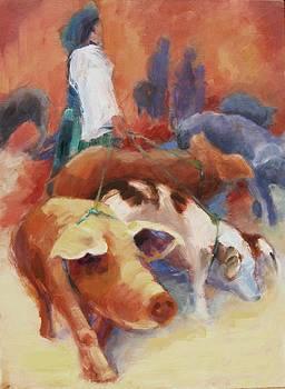 Pigs on a Leash by Pamela Rubinstein