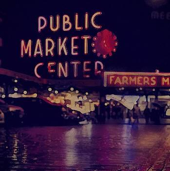 Pike Place Night by Othermindmedia