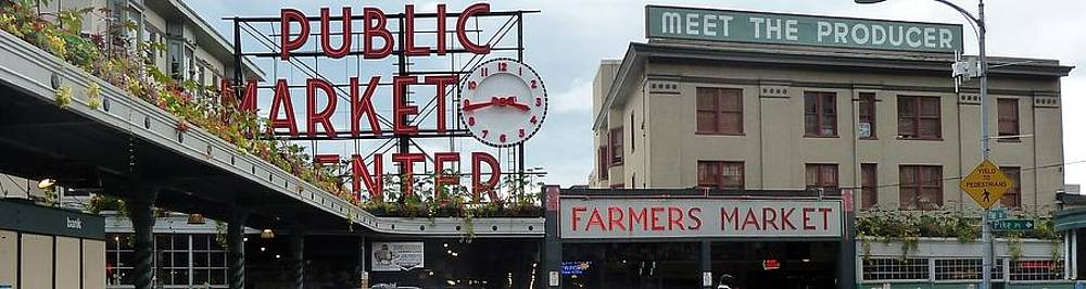 Pike Place Panarama by Ann Michelle Swadener
