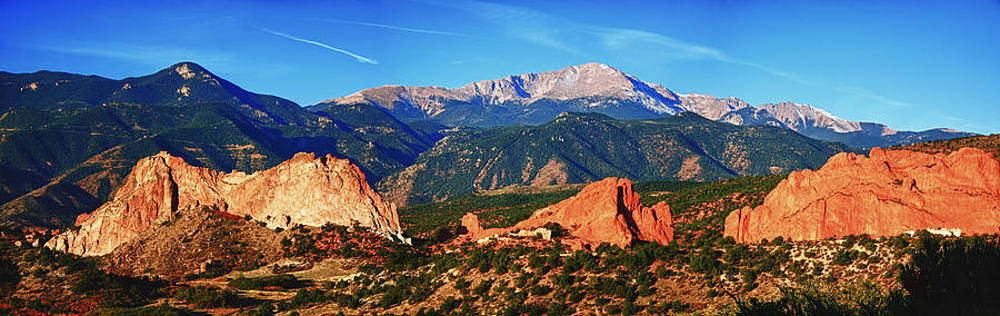 Pikes Peak And Garden Of The Gods by Bruce Hamel