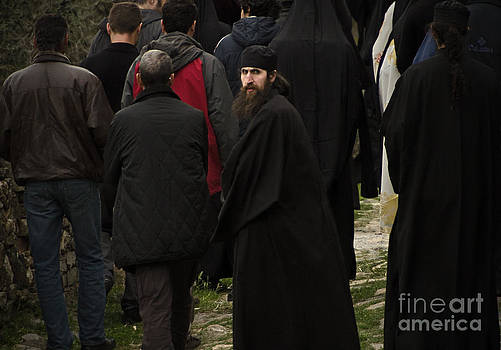 Pilgrims by Mount Athos