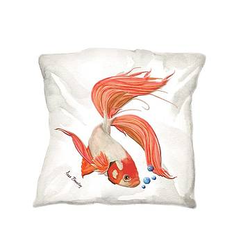 Pillow Beta Fish by Anne Beverley-Stamps