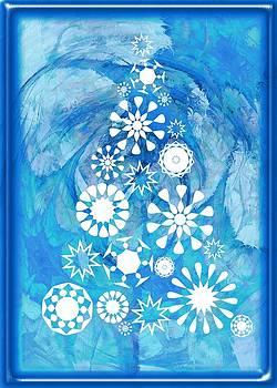 Anastasiya Malakhova - Pine Tree Snowflakes - Baby Blue