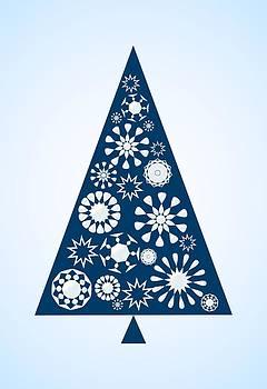 Anastasiya Malakhova - Pine Tree Snowflakes - Blue
