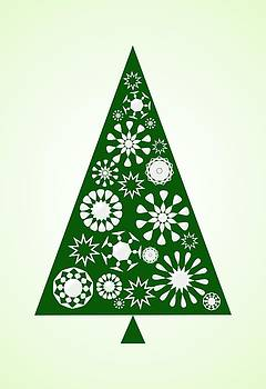 Anastasiya Malakhova - Pine Tree Snowflakes - Green