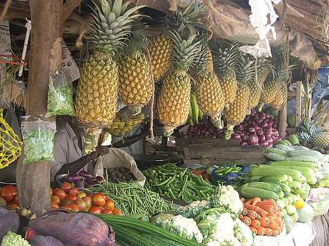Pineapple and vegetables by Joe Zachariah