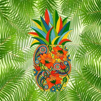 Pineapple Flower by Lisa Frances Judd