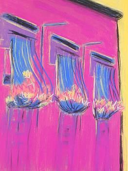 Pink Balcony by Marcia Meade