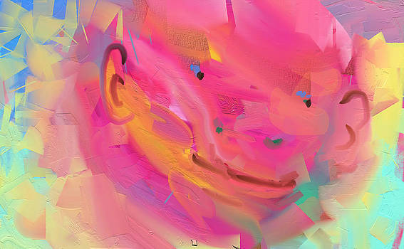 PInk Buddha Gorilla by Naomi Jacobs