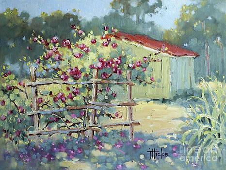 Pink Climbers in Texas by Joyce Hicks