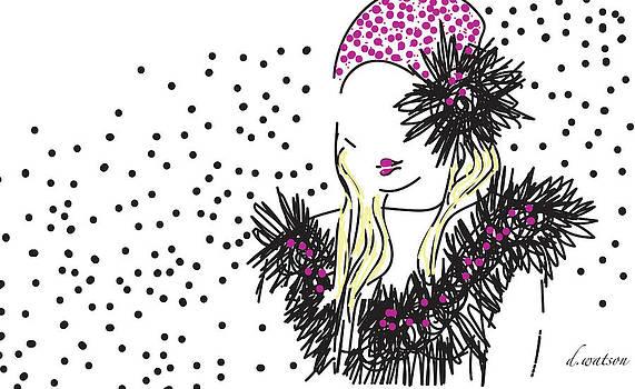 Pink Cloche Hat by Darlene Watson
