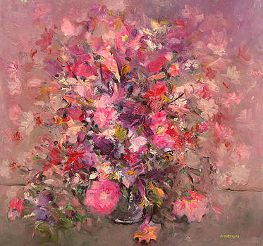 Pink flowers bouquet by Mario Zampedroni