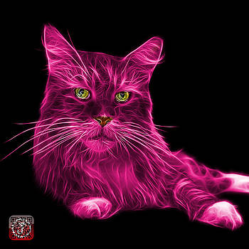 Pink Maine Coon Cat - 3926 - BB by James Ahn