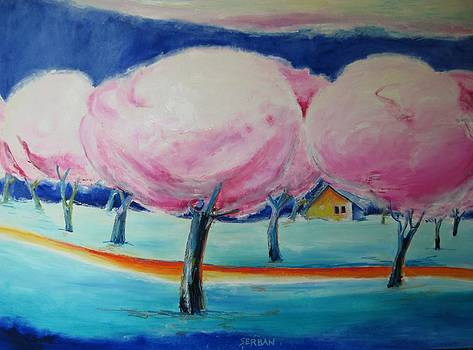 Pink Orchard by Blanche Serban