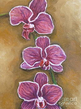 Pink Orchids by Gayle Utter