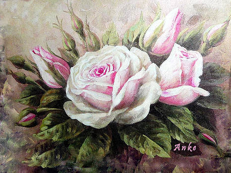 Pink Rose and Buds by Anke Wheeler