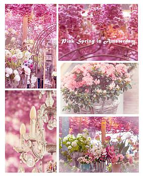 Jenny Rainbow - Pink Spring in Amsterdam. Flower Market