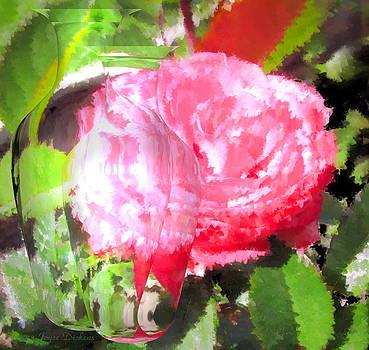 Joyce Dickens - Pink Tea Rose in Oil with Vases