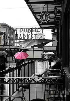 Pink Umbrella by Michelle Wolff