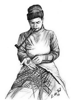 Pipe woman 1 by Evon Du Toit