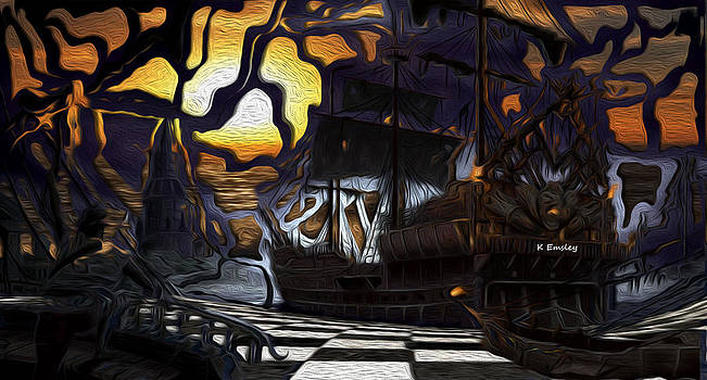 Pirate sunset-HD by Karl Emsley