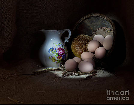 Pitcher And Eggs by Cecil Fuselier