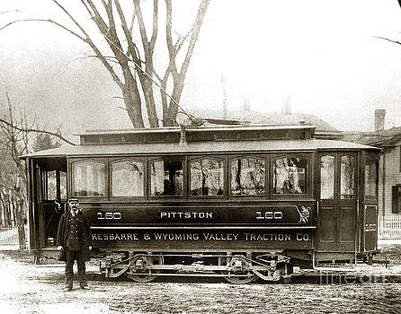 Pittston PA Trolley late 1800s by Arthur Miller