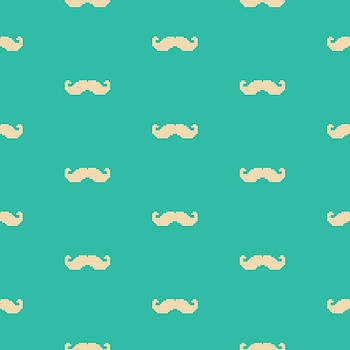 Pixel Mustache Pattern by Mike Taylor