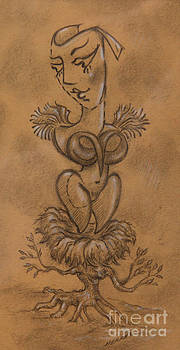 Pixie Lady In Nest by Jay Herres