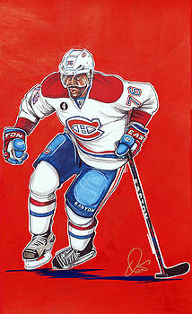 P.K. Subban of the Montreal Canadiens  by Dave Olsen