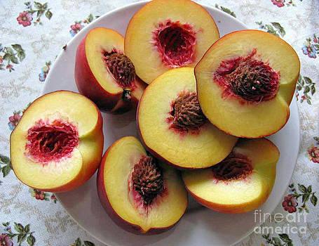 Plate Of Peach by Ausra Huntington nee Paulauskaite
