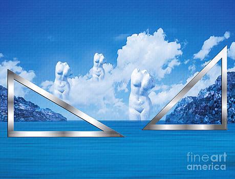 Nikos Smyrnios - Platonic Landscape in Blue