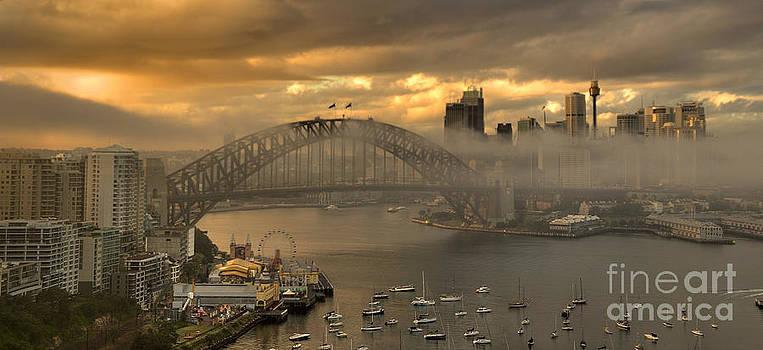 Play Misty For Me - Sydney Harbour Fog by Philip Johnson