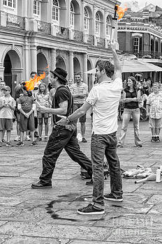 Kathleen K Parker - Playing with Fire in Jackson Square