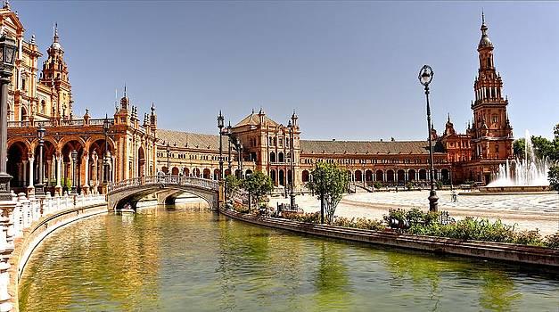 Plaza de Espana Seville Spain by Jennifer Wheatley Wolf
