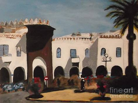 Plaza Espania Larache by Harry Pity