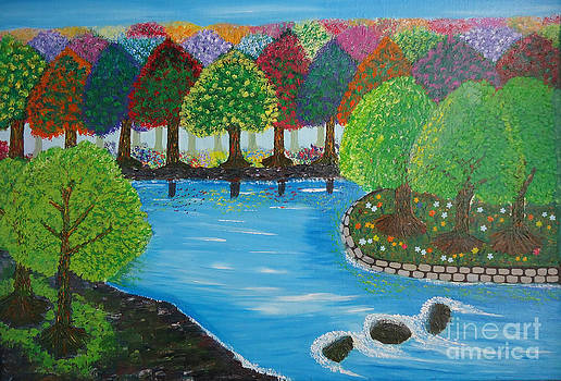 Pleasant Lake view by Jnana Finearts