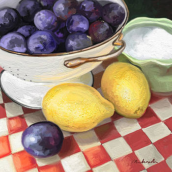 Plums n' Lemons  by Linda Minkowski