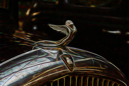 Plymouth Hood Ornament by Andrea Kelley