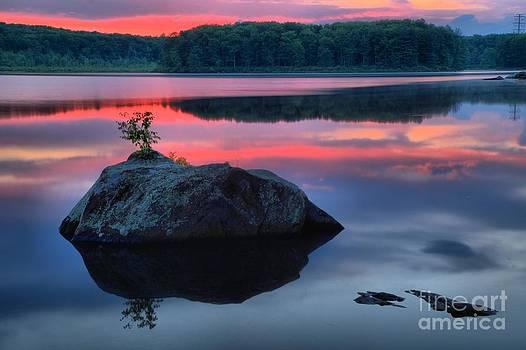 Adam Jewell - Poconos Lake Whitney Sunset Silhouette