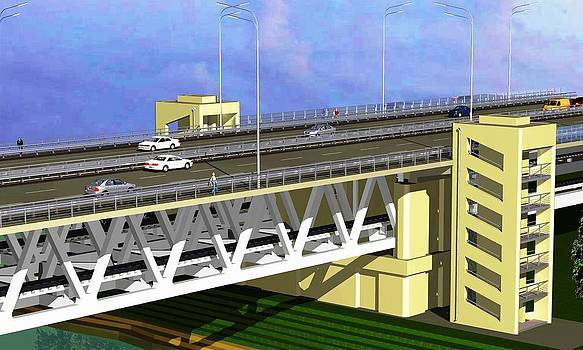 Podilsky Bridge by Oleg Zavarzin