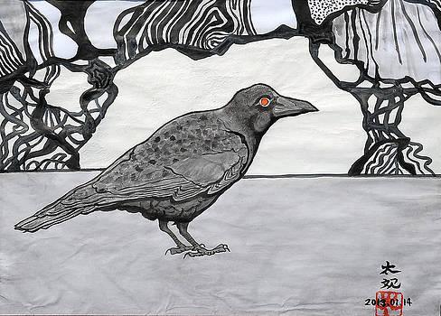 Poe's Friend by Taikan Nishimoto