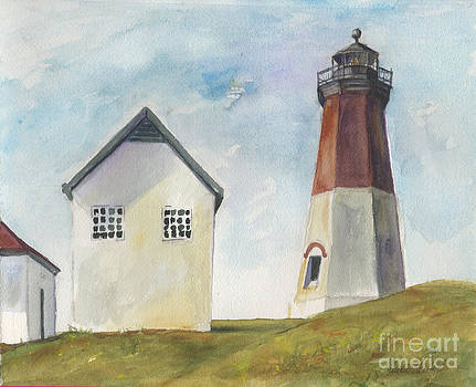 Point Judith Light by Susan Herbst