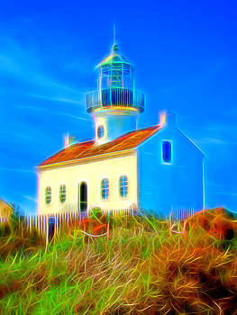 Point Loma Lighthouse Glow by Chris Brannen