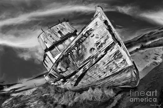 Blake Richards - Point Reyes Abandoned Boat Black And White