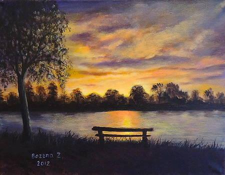 Polish Sunset by Bozena Zajaczkowska