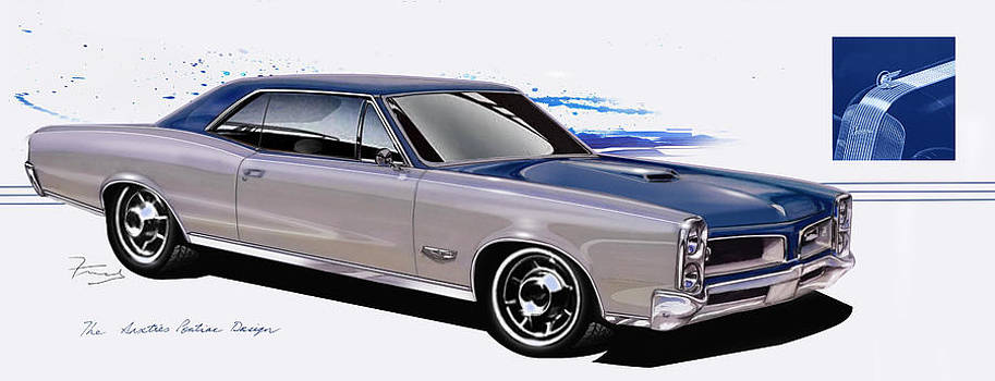 Pontiac GTO design art by Fred Otene