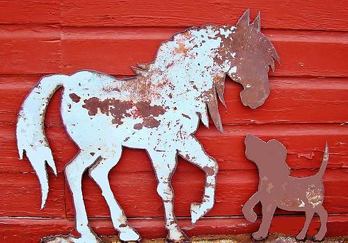Pony and Pup by Larry Campbell